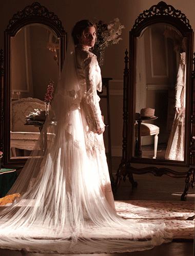 Vestido de novia vintage gran hotel