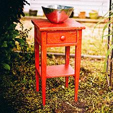 Mesilla roja Vintage