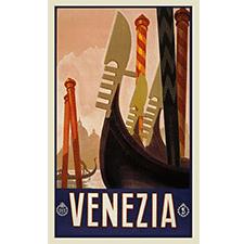 Poster vintage de venecia