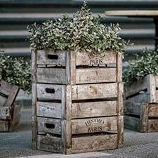cajas vintage con flores